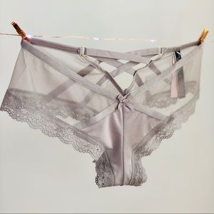 Victoria's Secret gray crisscross cheeky panty - S